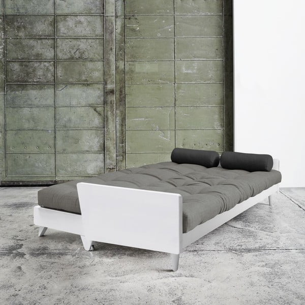 Sofa rozkładana Karup Indie White/Granite Grey/Dark Grey