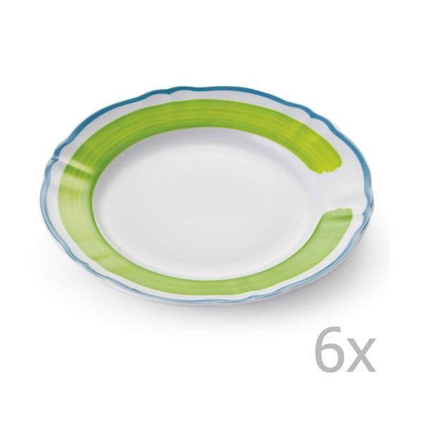 Zestaw 6 talerzy Giotto Green/Turquoise