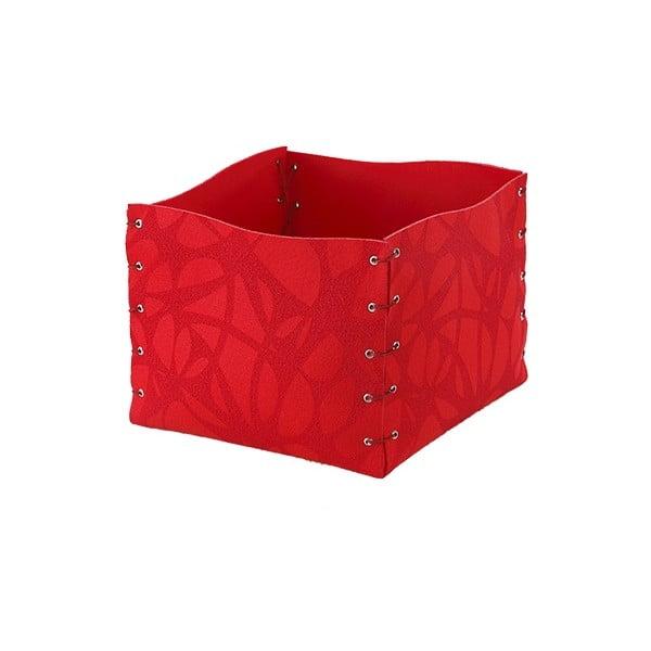 Filcowe pudełko, 25x20 cm, czerwone