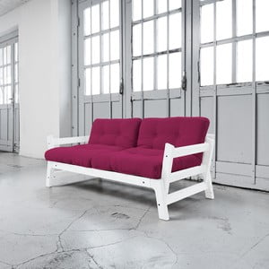 Sofa rozkładana Karup Step White/Pink