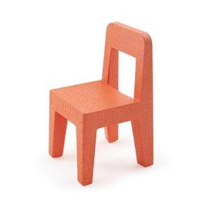 Pomarańczowe krzesło dziecięce Magis Seggiolina Pop