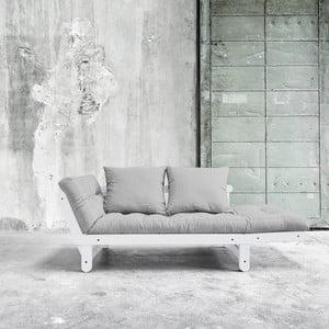 Sofa rozkładana Beat White/Light Grey