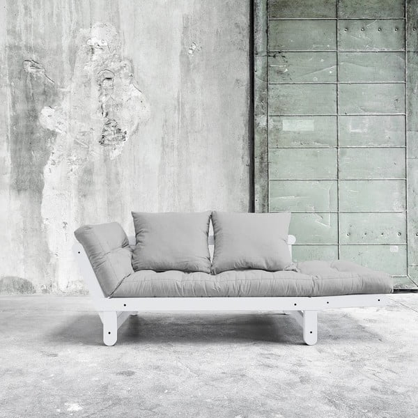 Sofa rozkładana Beat White/Light Grey