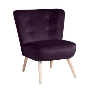 Fioletowy fotel Max Winzer Neele Velvet