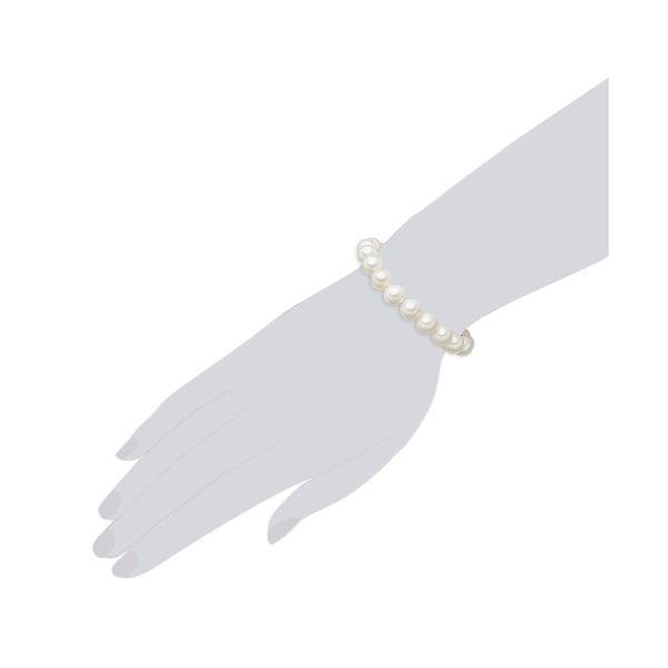 Perłowa bransoletka Muschel, białe perły 10 mm, długość 18 cm