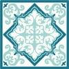 Zestaw 2 mat stołowych Blue Decor, 20x20 cm