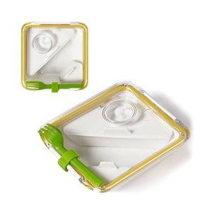 Pojemnik na lunch Box Apetit, biały/żółty