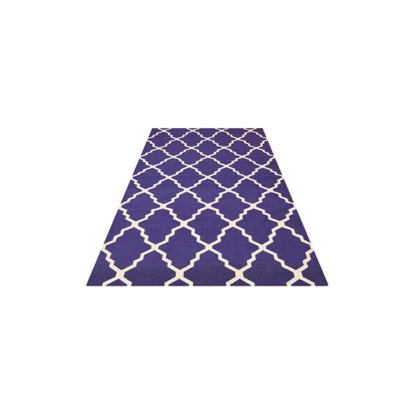 Niebieski dywan wełniany Bakero Kilim Jasmina, 200x290 cm