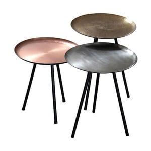 Zestaaw 3 stolików Nesting Metallic