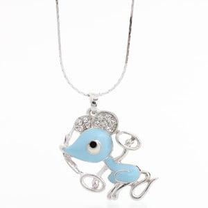 Naszyjnik ze Swarovski Elements, niebieska myszka