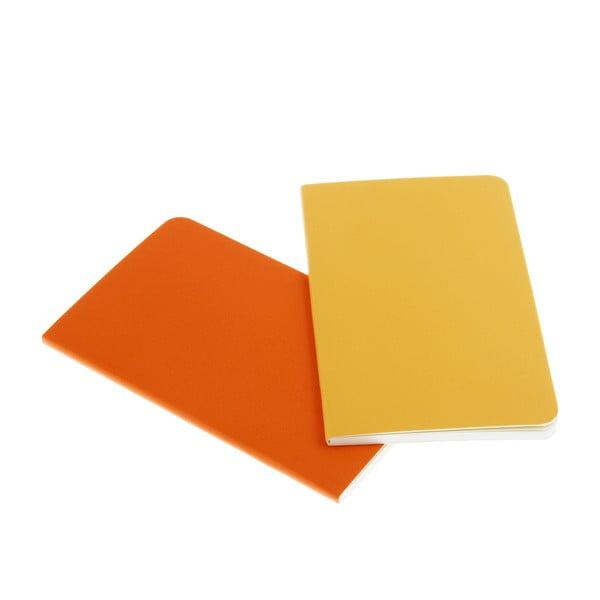 Zestaw 2 żółtych notesów Moleskine Volant 7x11 cm, czyste strony