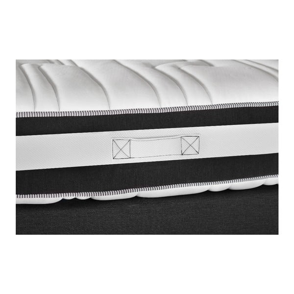Ciemnoszare łóżko z materacem Stella Cadente Mars Saches, 140x200 cm