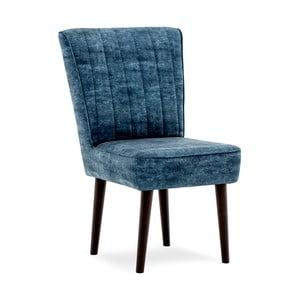 Ciemnoniebieskie krzesło tapicerowane Vivonita Leila