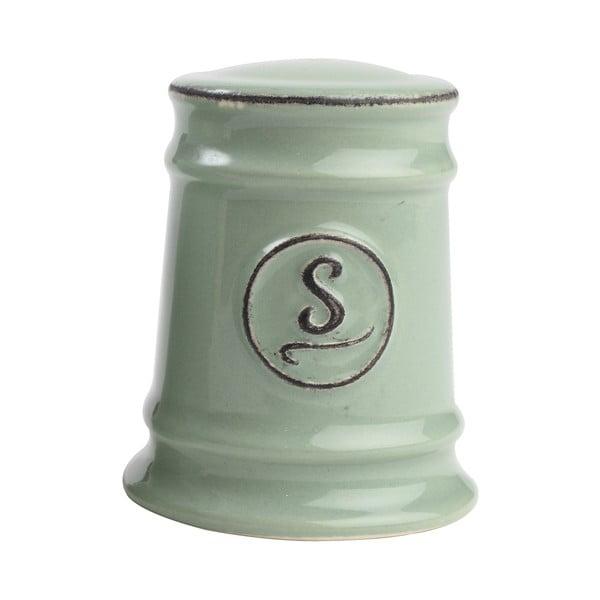 Zielona solniczka porcelanowa T&G Woodware Pride of Place