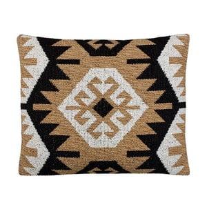 Poduszka z wypełnieniem Kelim Black, 50x60 cm