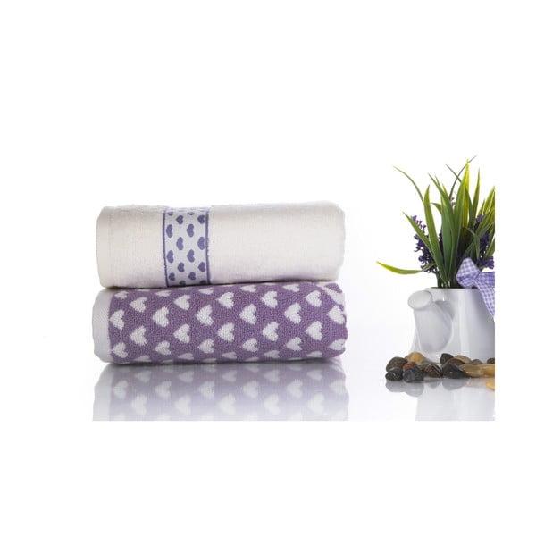 Zestaw 2 ręczników Danny V1, 50x90 cm