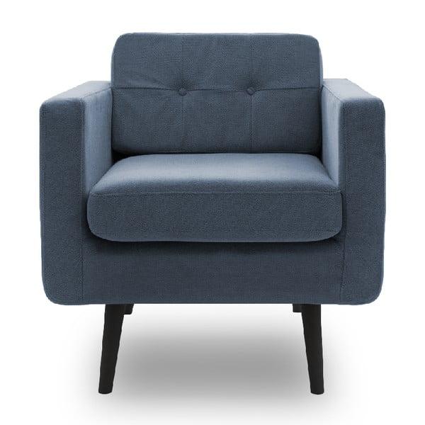 Jasnoniebieski fotel VIVONITA Sondero VIVONITA Sondero, czarne nogi