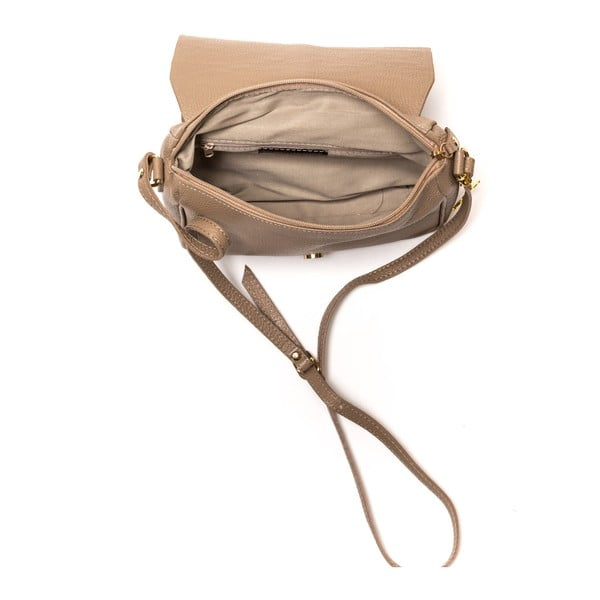 Skórzana torebka Italia 1100, jasnobrązowa