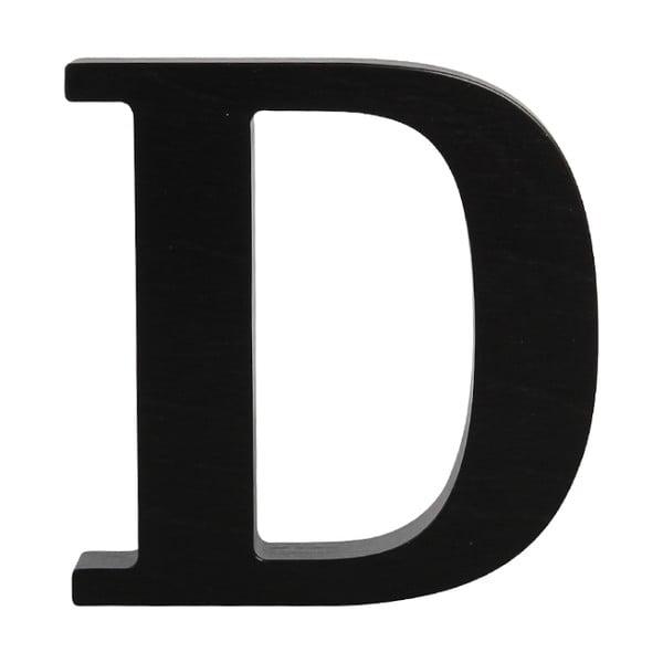 Czarna drewniana litera Typoland D