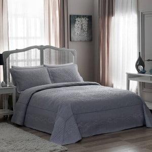 Zestaw: narzuta i poszewka na poduszkę TAC Lanette Blue, 180x240 cm