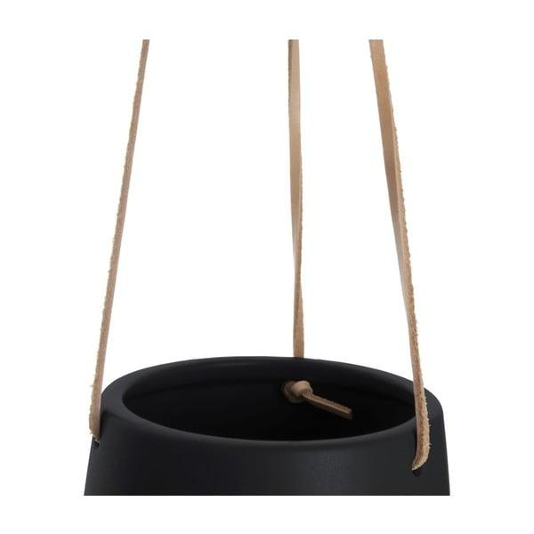 Czarna doniczka wisząca PT LIVING Skittle, ⌀ 12,2 cm