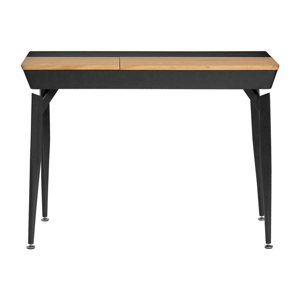 Czarne biurko ze schowkiem Marckeric Cira