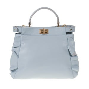 Jasnoniebieska torebka skórzana Giulia Bags Janette