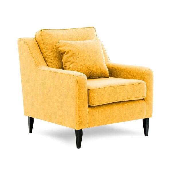 Musztardowy fotel Vivonita Bond