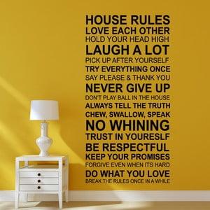 Naklejka ścienna Zasady w domu