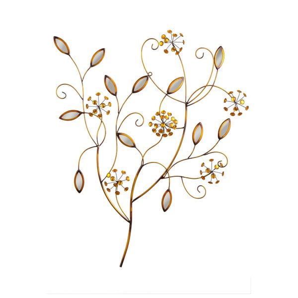 Dekoracja ścienna Bronze Flowers, 84x68 cm
