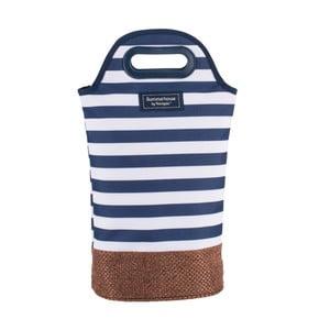 Ciemnoniebieska prążkowana torba na 2 butelki Navigate