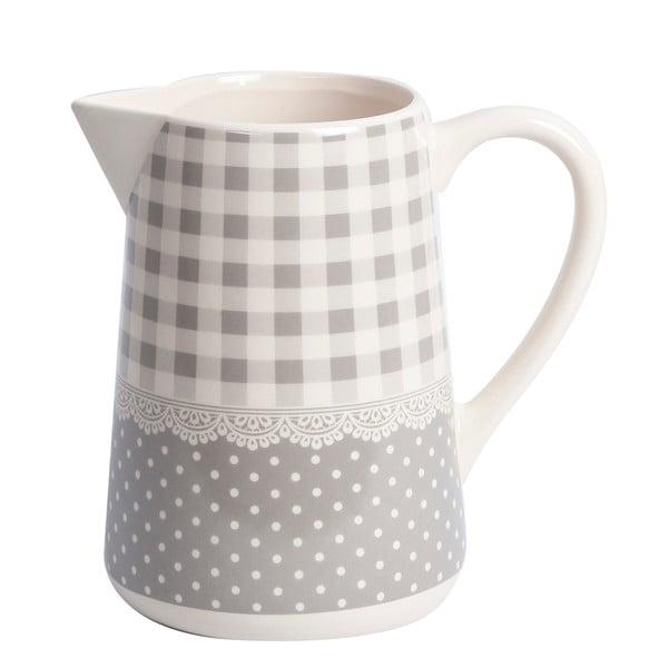 Dzbanek Grey Dots&Checks, 19 cm