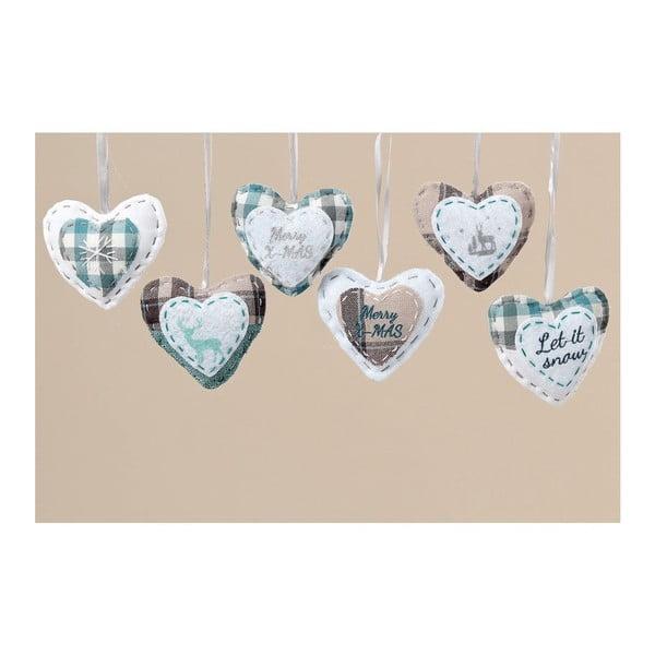Zestaw 6 wiszących dekoracji Cozy Heart