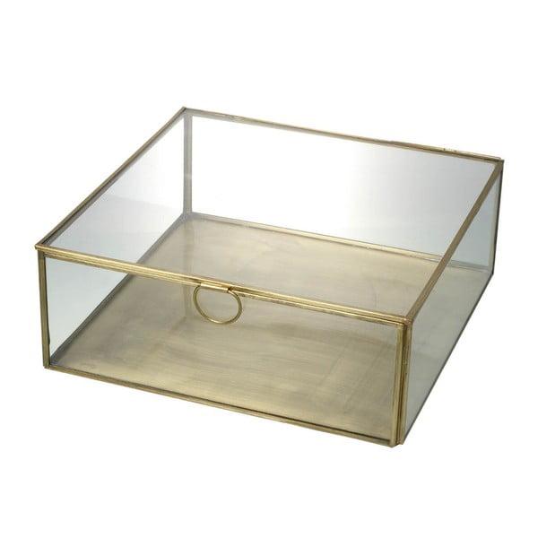 Szklany pojemnik Parlane Gold, 24 cm