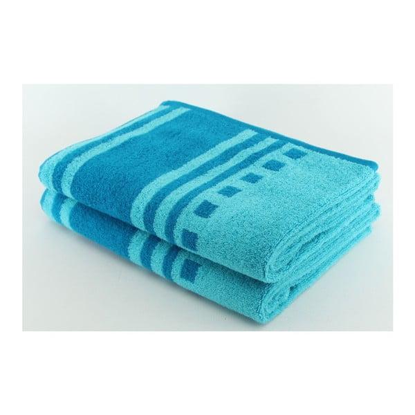 Komplet 2 ręczników Blue, 70x140 cm