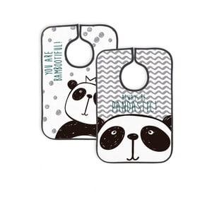 Zestaw 2 śliniaków Little Nice Things Panda