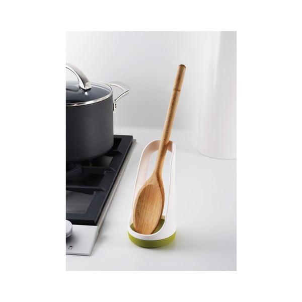 Szary stojak do odkładania akcesoriów kuchennych