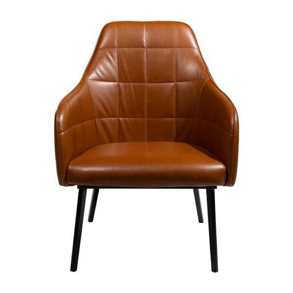 Jasnobrązowy fotel ze skóry ekologicznej DAN–FORM Denmark Embrace