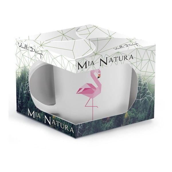 Porcelanowy kubek Vialli Design Wild Flamingo, 370 ml