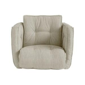Rozkładany fotel z lnianym obiciem Karup Design Dice Linen