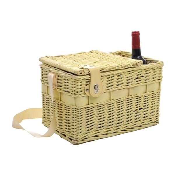 Kosz piknikowy Picnic Yellow, 37x24x24 cm