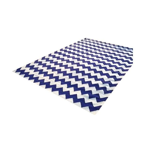 Ręcznie tkany dywan Kilim Design Two Blue, 160x230 cm