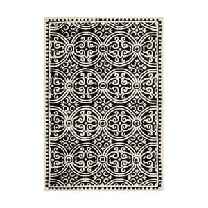 Dywan wełniany Marina Black, 121x182 cm
