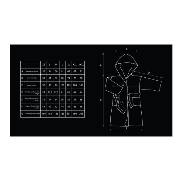 Kremowy szlafrok z mikrowłókna unisex DecoKing Sleepyhead, rozm. L
