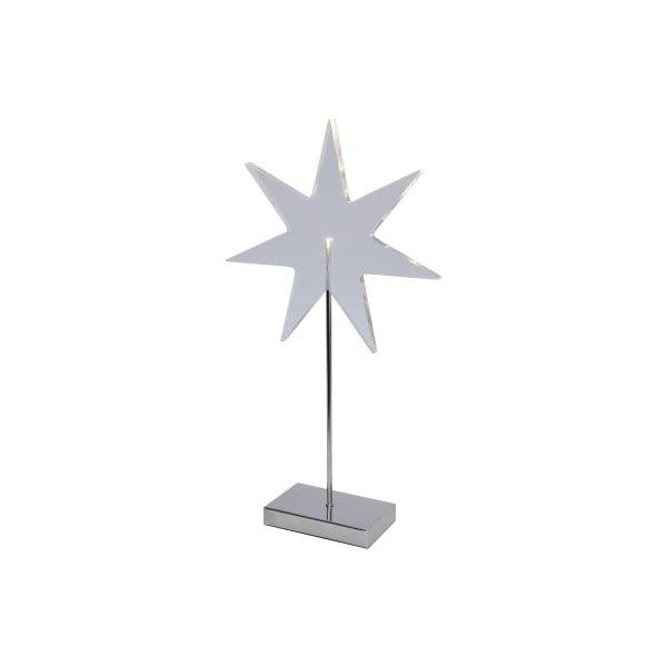 Świecąca   gwiazda ze stojakiem Best Season Star Silver