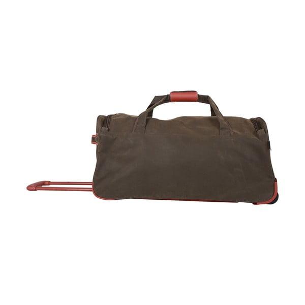 Podróżna torba na kółkach Jean Louis Scherrer Khaki, 76.5 l