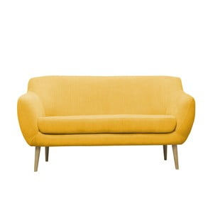 Żółta sofa trzyosobowa Mazzini Sofas Sardaigne