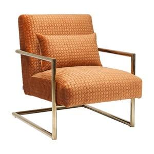 Pomarańczowy fotel Kare Design Vegas