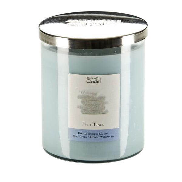 Świeczka zapachowa Copenhagen CandlesFresh Linen, czas palenia 70 godzin
