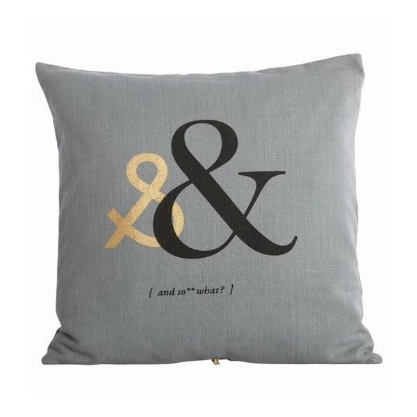 Poszewka na poduszkę Letter &, 50x50 cm